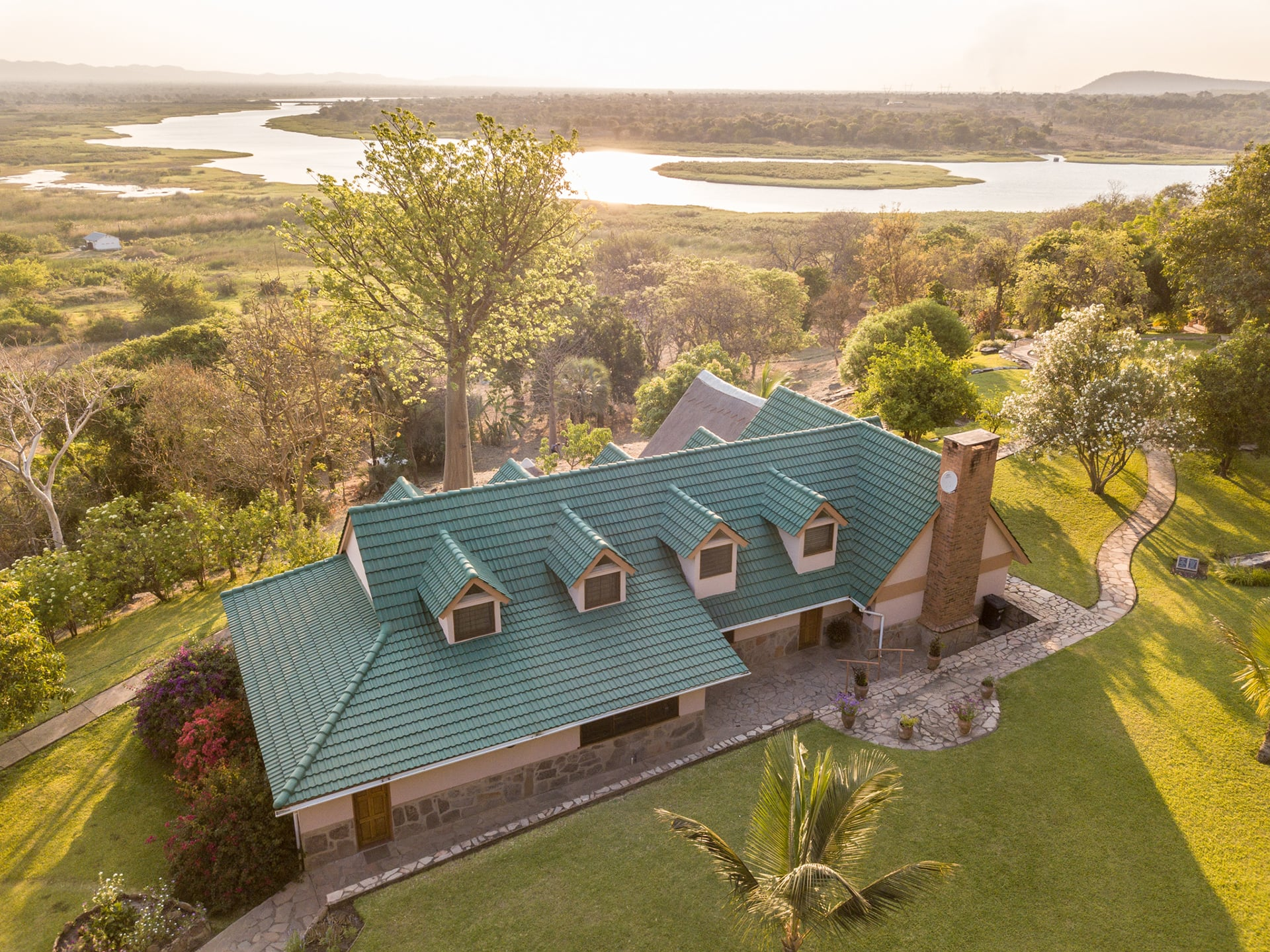 Aerial view of Riverview Lodge